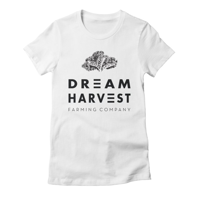 kale head Women's Fitted T-Shirt by dream harvest's Artist Shop