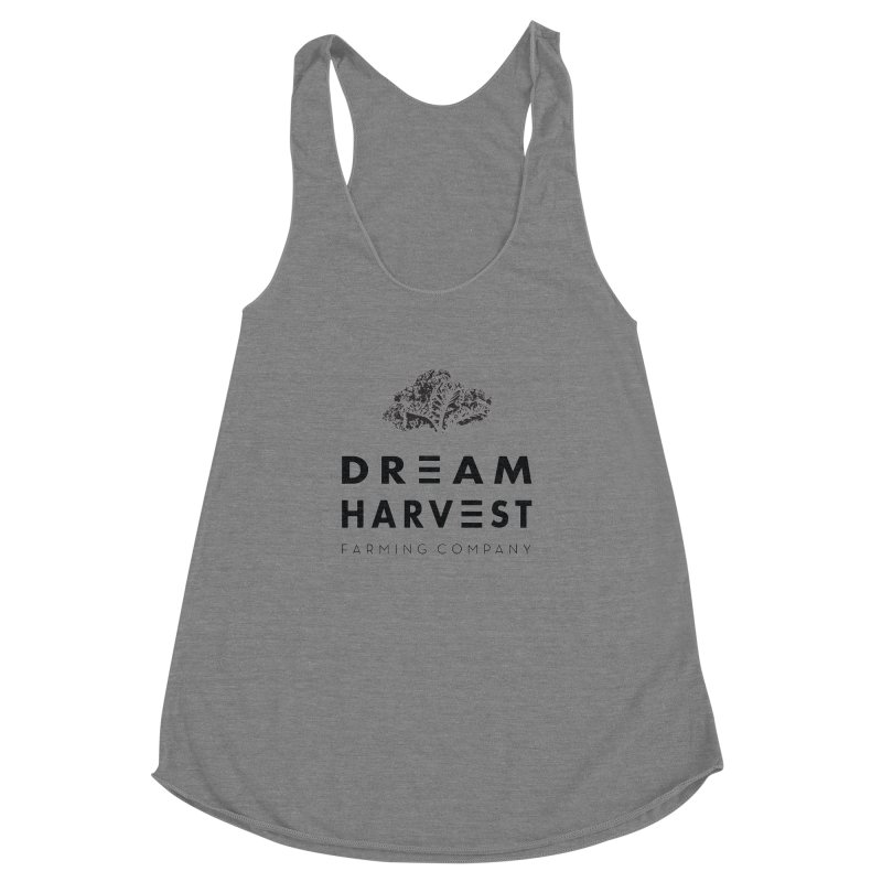 kale head Women's Racerback Triblend Tank by dreamharvest's Artist Shop