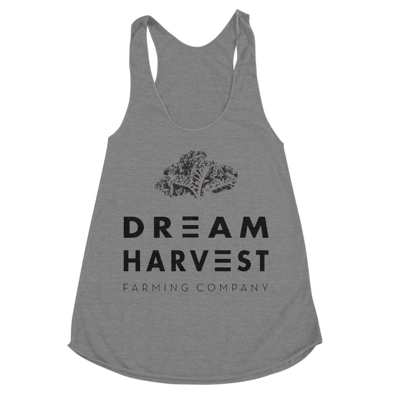 kale head Women's Racerback Triblend Tank by dream harvest's Artist Shop