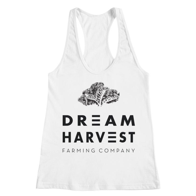 kale head Women's Racerback Tank by dream harvest's Artist Shop