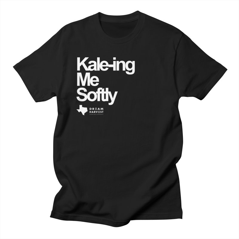 Kale-ing Me Softly in Men's Regular T-Shirt Black by dreamharvest's Artist Shop