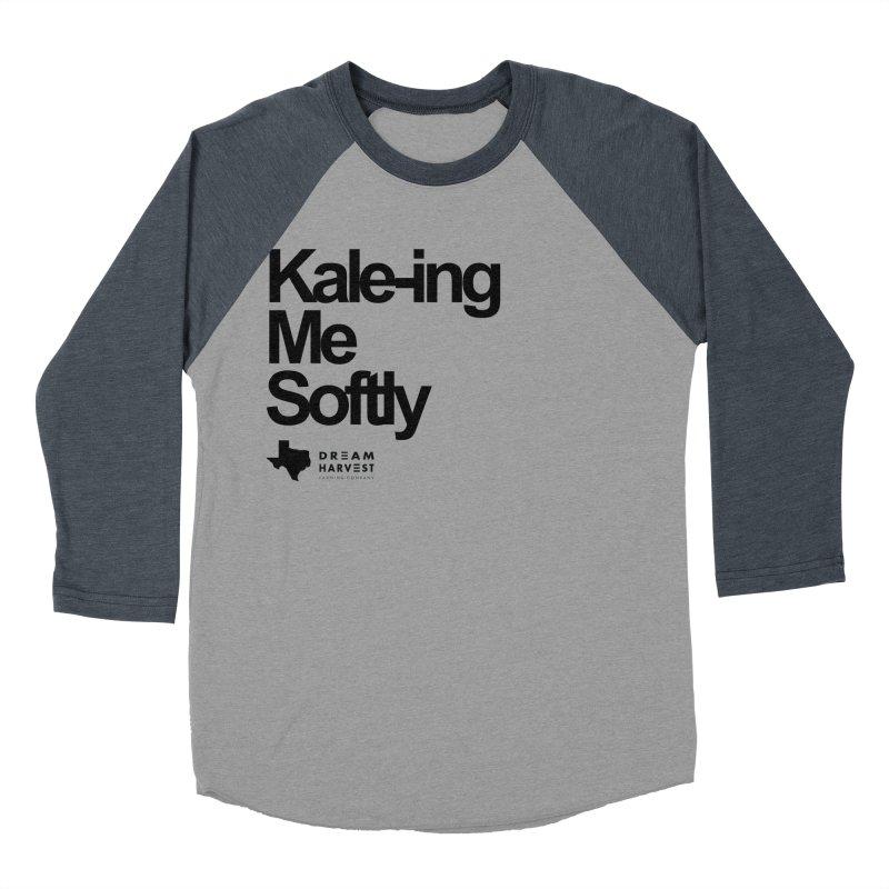 Kale-ing Me Softly Men's Baseball Triblend Longsleeve T-Shirt by dream harvest's Artist Shop