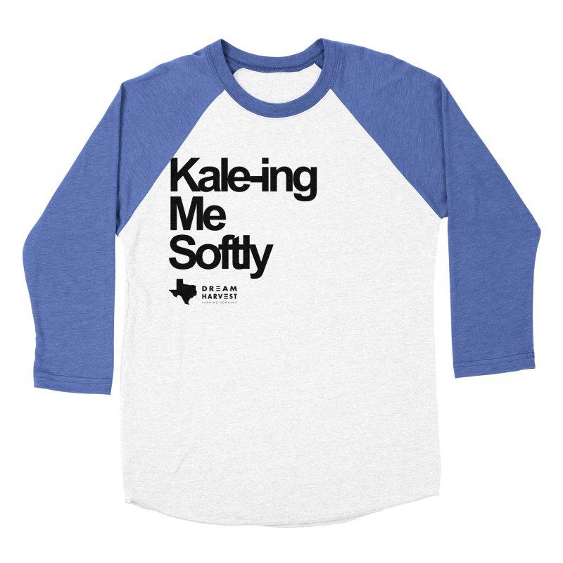 Kale-ing Me Softly Men's Baseball Triblend Longsleeve T-Shirt by dreamharvest's Artist Shop