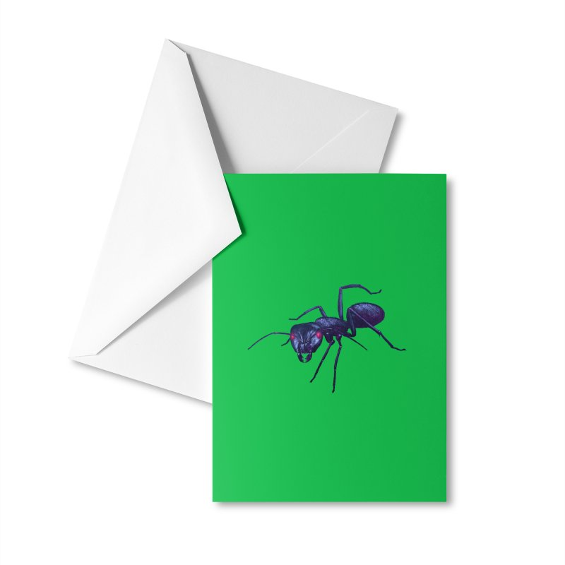 Electric Ant Accessories Greeting Card by Cliff's Dreampunk Shop