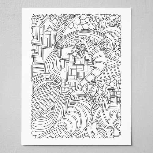Wandering-Abstract-Line-Art-Black-And-White