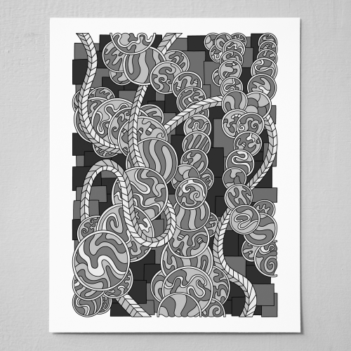 Wandering-Abstract-Line-Art-Grayscale