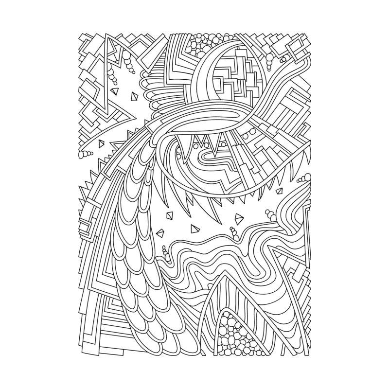 Wandering 49: black & white line art by Dream Ripple