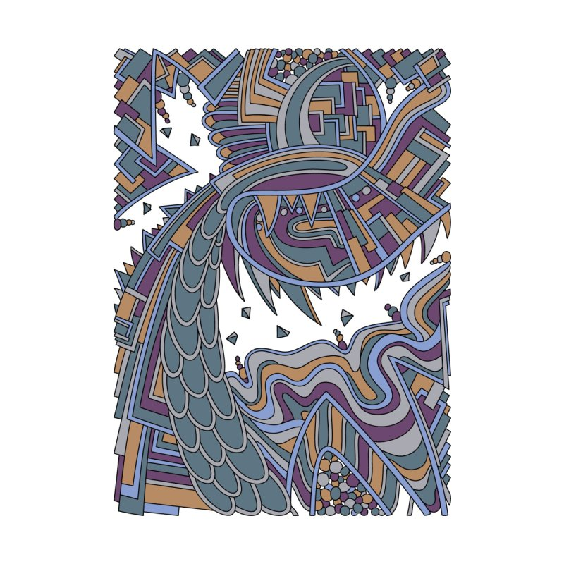 Wandering Abstract Line Art 49: Gold Home Fine Art Print by Dream Ripple