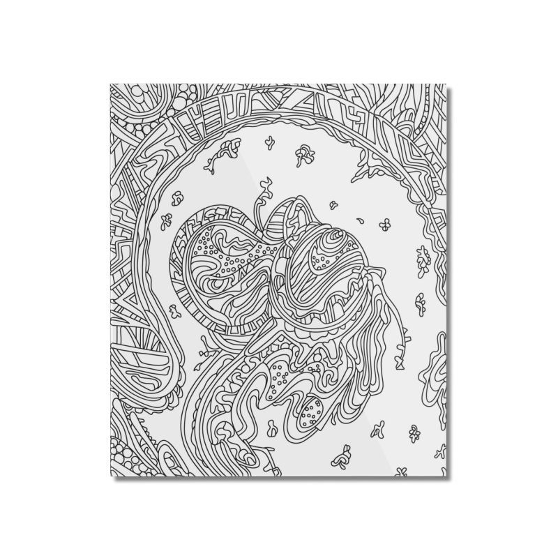 Wandering Abstract Line Art 50: Black & White Home Mounted Acrylic Print by Dream Ripple