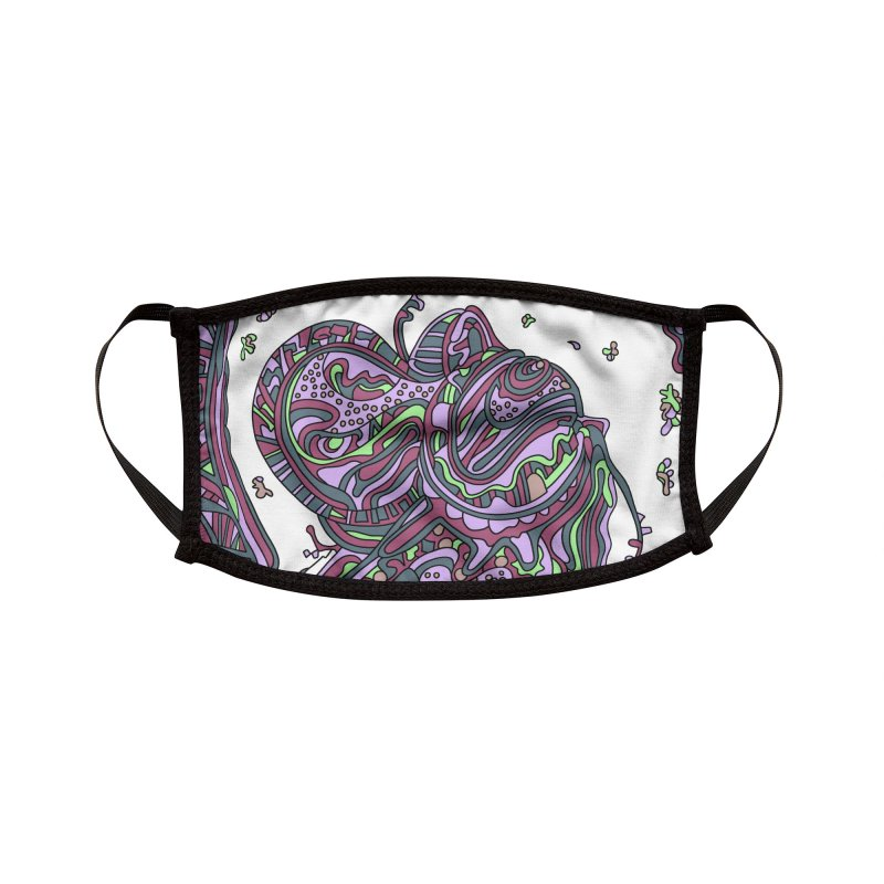 Wandering Abstract Line Art 50: Pink Accessories Face Mask by Dream Ripple