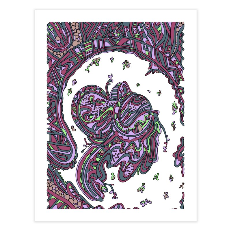 Wandering Abstract Line Art 50: Pink Home Fine Art Print by Dream Ripple