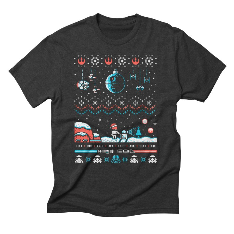 Holiday Far, Far Away Men's Triblend T-Shirt by Drew Wise