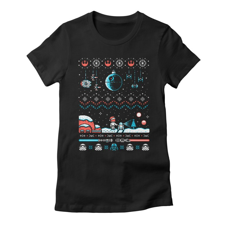 Holiday Far, Far Away Women's Fitted T-Shirt by Drew Wise