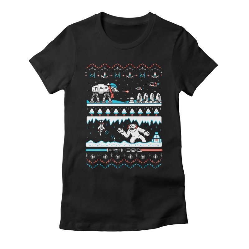 Winter Strikes Back! Women's Fitted T-Shirt by Drew Wise