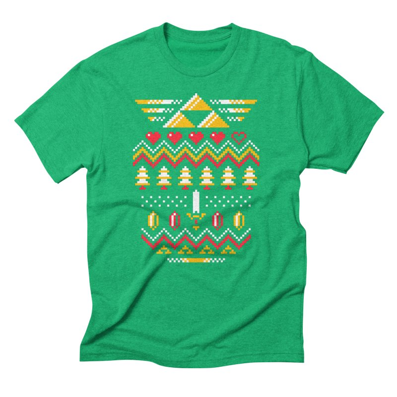Triforce Holiday Men's Triblend T-Shirt by Drew Wise