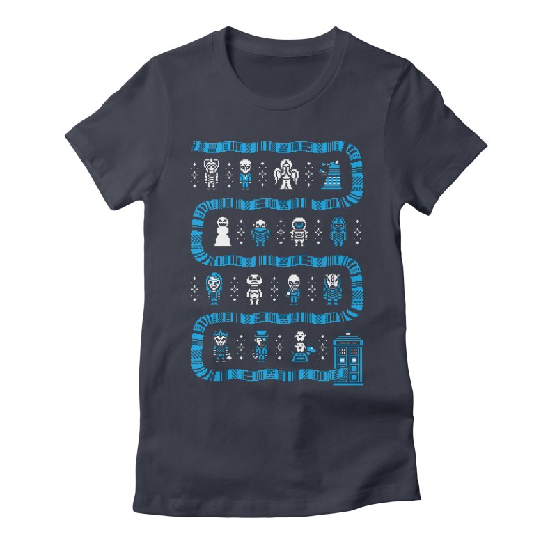 Who's Outside? Women's Fitted T-Shirt by Drew Wise