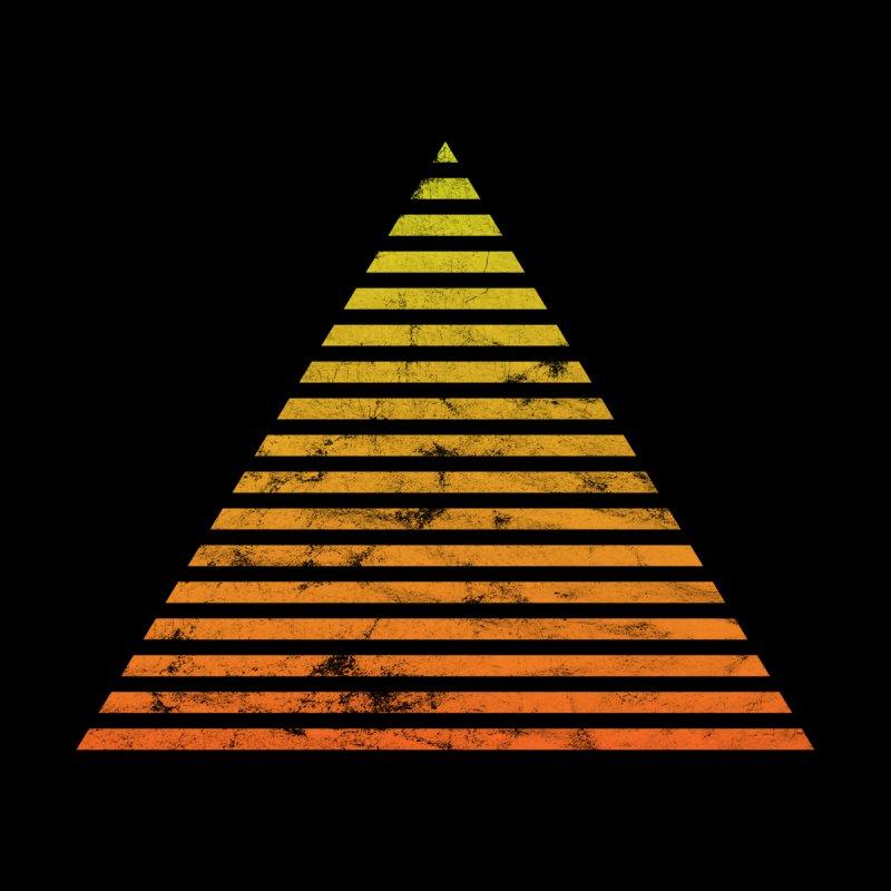 Geometrics - Sunset Mountain Men's T-Shirt by Drifter7Design's Artist Shop