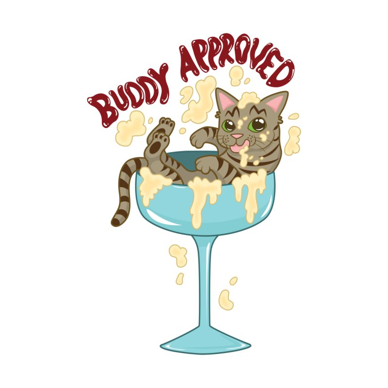 Buddy Approved - Cocktail Glass Kids Baby T-Shirt by Drinking And Screaming's Shop
