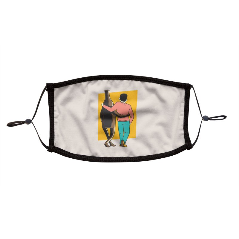 Drinking Buddies Accessories Face Mask by Drinking Humor