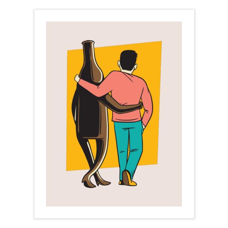 Drinking Buddies Home Fine Art Print by Drinking Humor