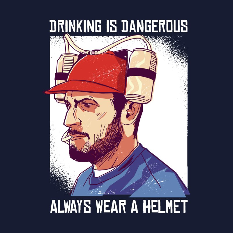 Drinking Is Dangerous Men's T-Shirt by Drinking Humor