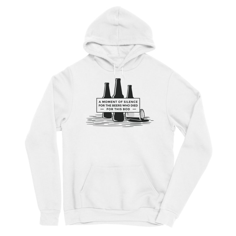 A Moment Of Silence Men's Pullover Hoody by Drinking Humor