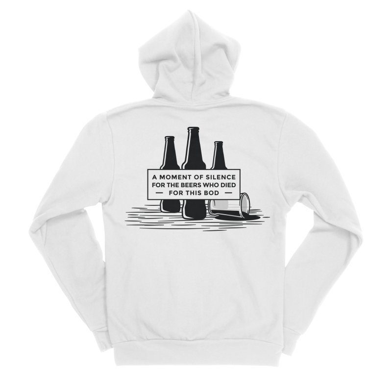 A Moment Of Silence Men's Zip-Up Hoody by Drinking Humor