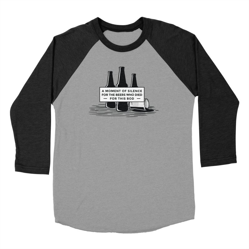 A Moment Of Silence Men's Longsleeve T-Shirt by Drinking Humor