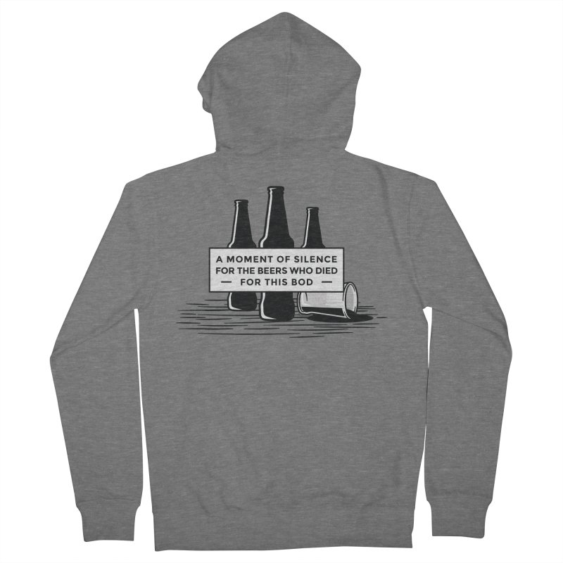 A Moment Of Silence Women's Zip-Up Hoody by Drinking Humor