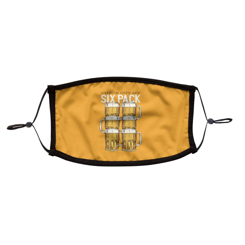 Check Out My Six Pack Accessories Face Mask by Drinking Humor