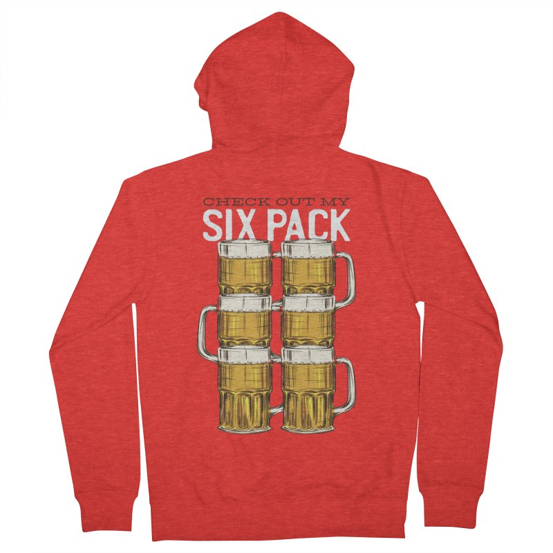 Check Out My Six Pack Women's Zip-Up Hoody by Drinking Humor