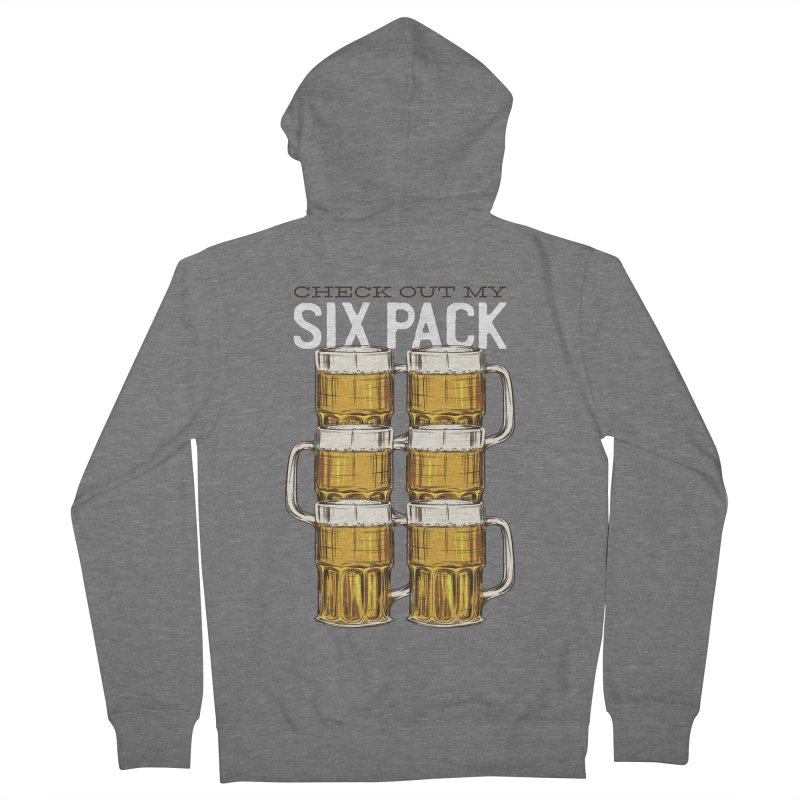 Check Out My Six Pack Men's Zip-Up Hoody by Drinking Humor