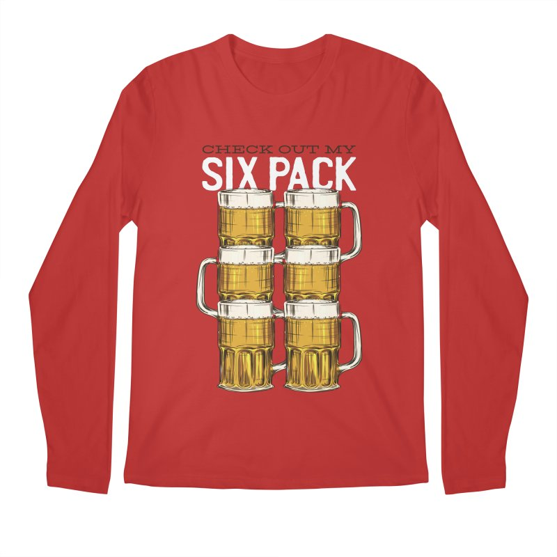 Check Out My Six Pack Men's Longsleeve T-Shirt by Drinking Humor