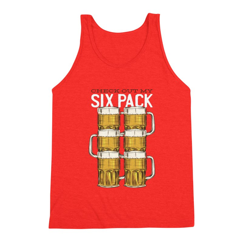 Check Out My Six Pack Men's Tank by Drinking Humor