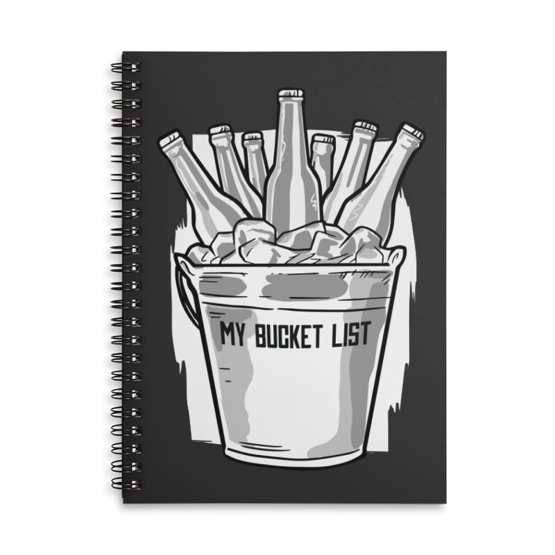 My Bucket List Accessories Notebook by Drinking Humor