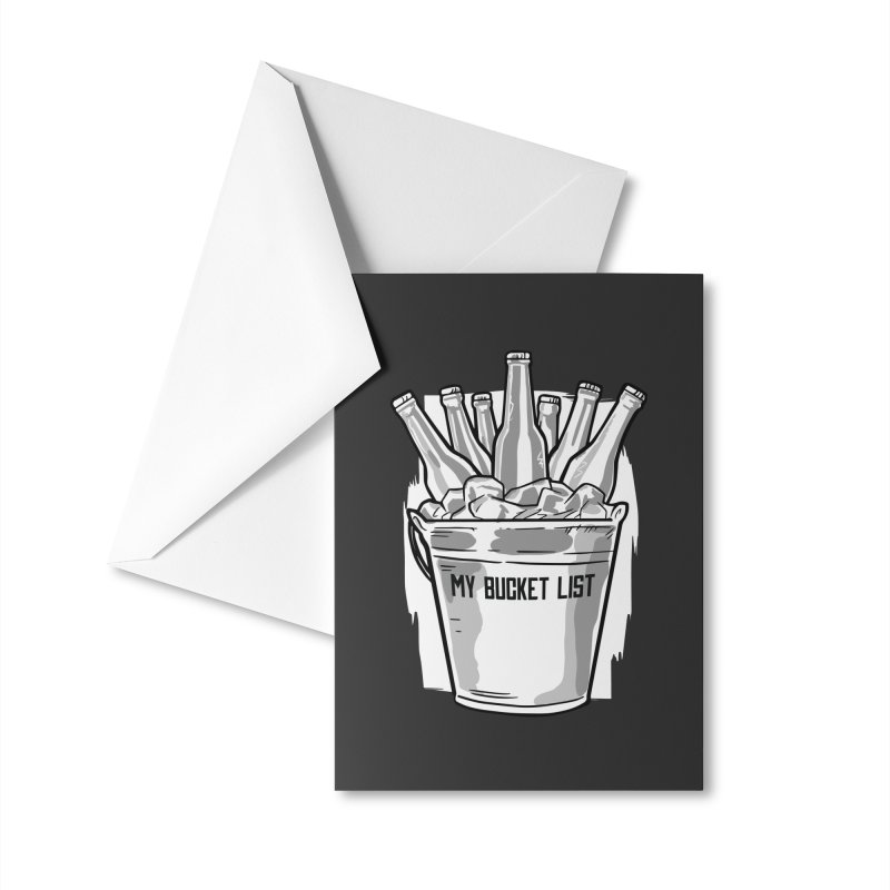 My Bucket List Accessories Greeting Card by Drinking Humor