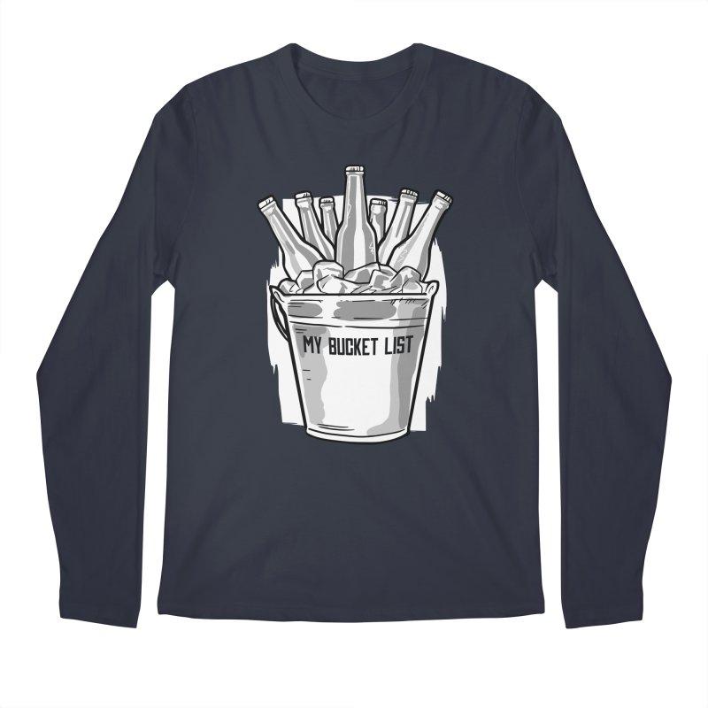 My Bucket List Men's Longsleeve T-Shirt by Drinking Humor