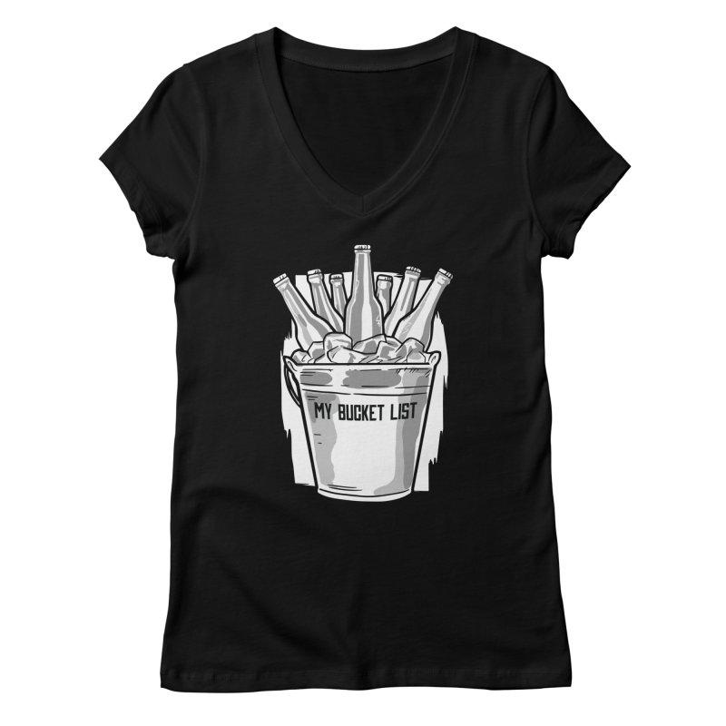 My Bucket List Women's V-Neck by Drinking Humor