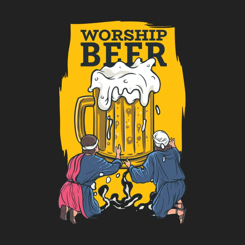 Worship Beer Men's T-Shirt by Drinking Humor