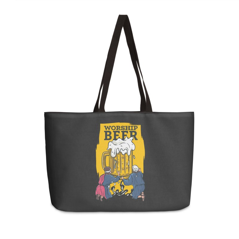 Worship Beer Accessories Bag by Drinking Humor