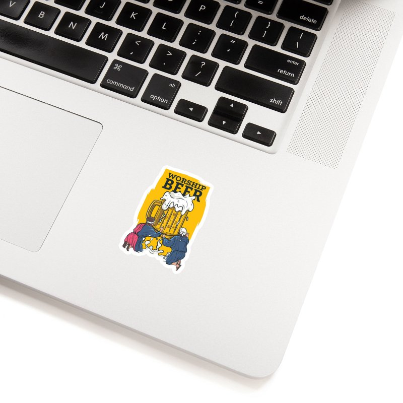 Worship Beer Accessories Sticker by Drinking Humor