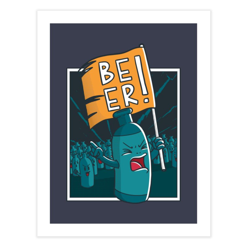 Beer Attack Home Fine Art Print by Drinking Humor