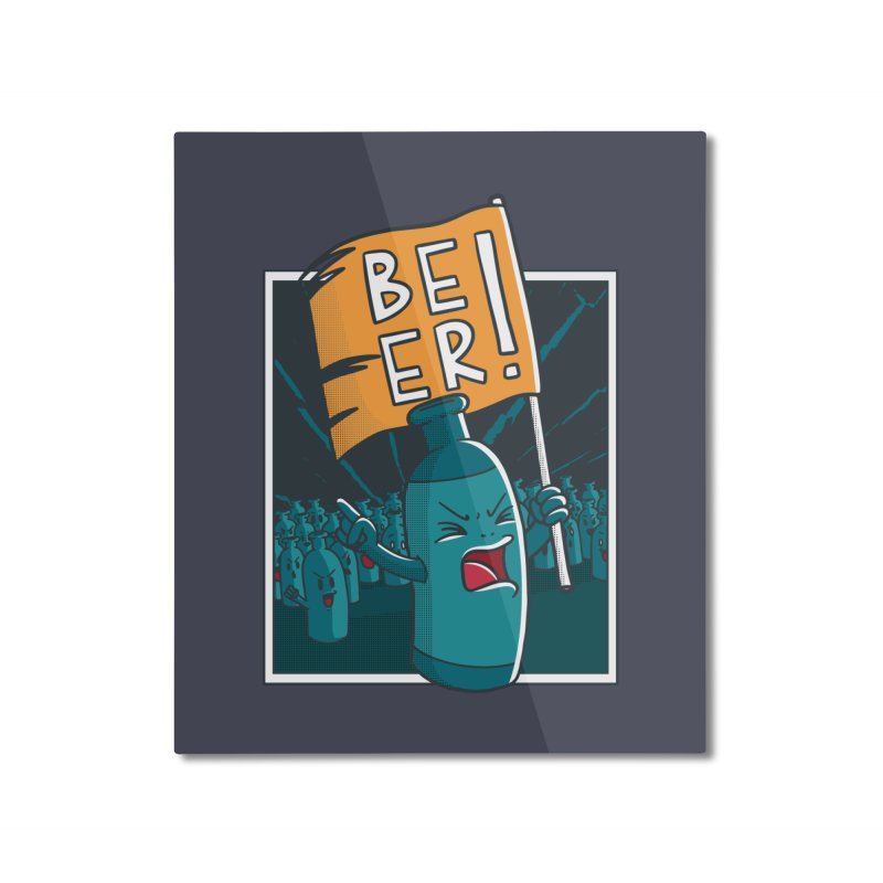 Beer Attack Home Mounted Aluminum Print by Drinking Humor