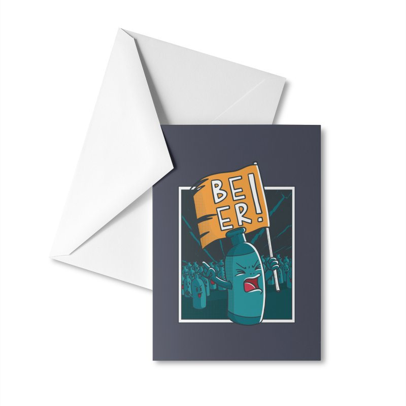 Beer Attack Accessories Greeting Card by Drinking Humor