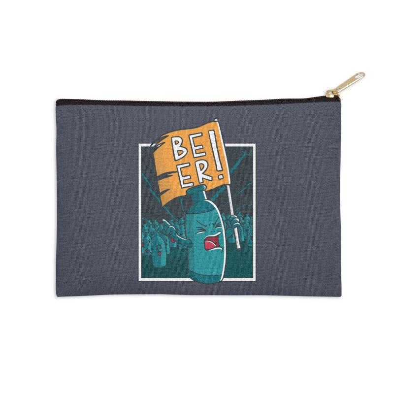 Beer Attack Accessories Zip Pouch by Drinking Humor