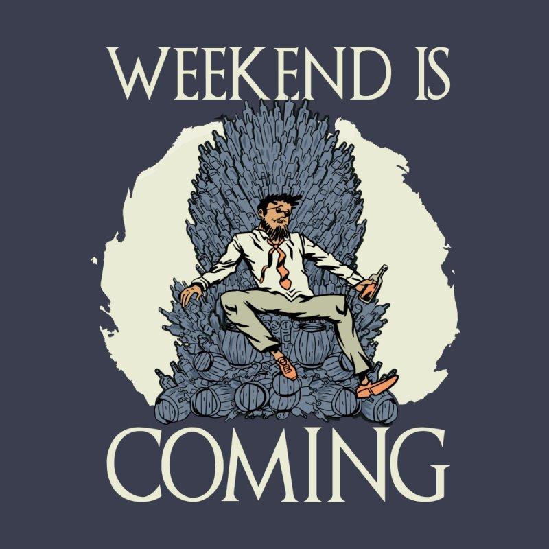 Weekend Is Coming Men's Pullover Hoody by Drinking Humor