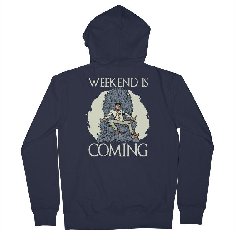 Weekend Is Coming Men's Zip-Up Hoody by Drinking Humor