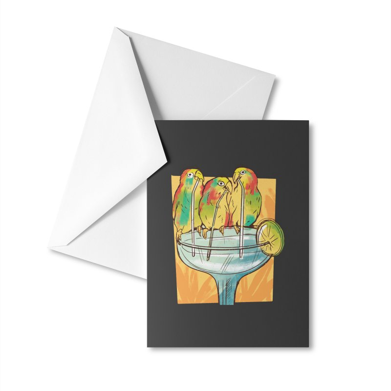 Margarita Birds Accessories Greeting Card by Drinking Humor