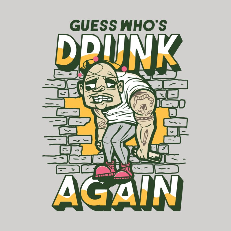 Guess Who's Drunk Again Accessories Greeting Card by Drinking Humor