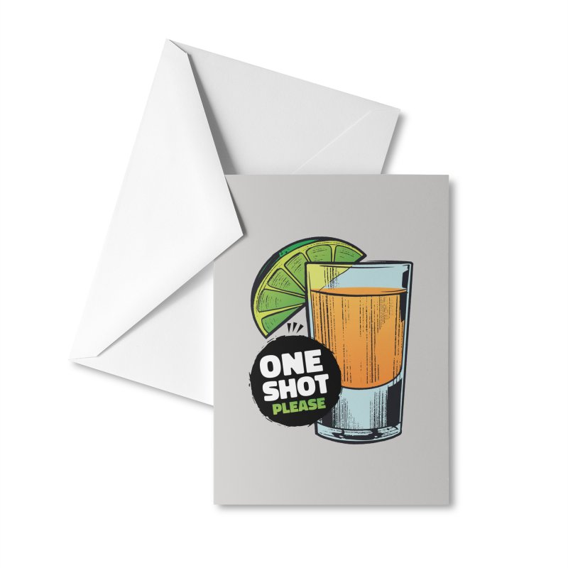 One Shot Please Accessories Greeting Card by Drinking Humor